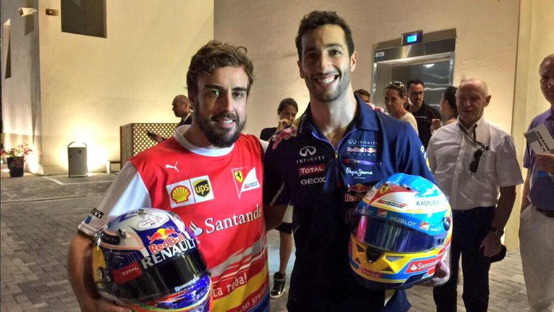Ricciardo & Alonso - GP Abu Dhabi 2014