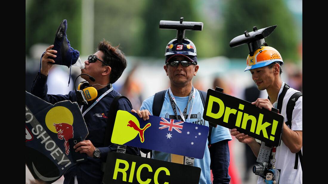 Ricciardo-Fans - Formel 1 - GP Japan - Suzuka - 7. Oktober 2017