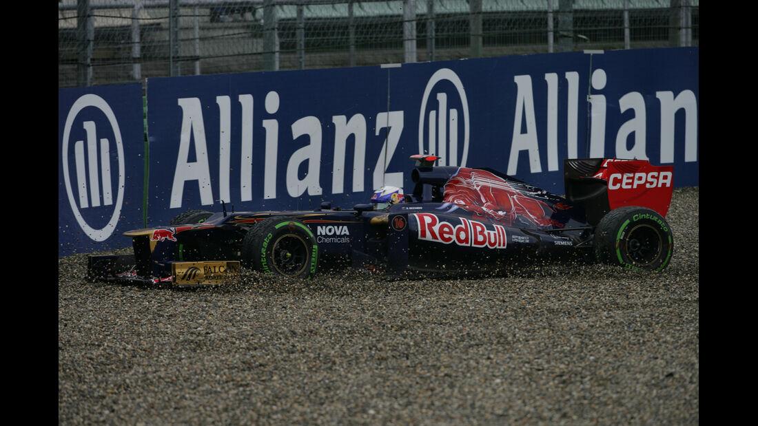 Ricciardo GP Deutschland F1 Crashs 2012