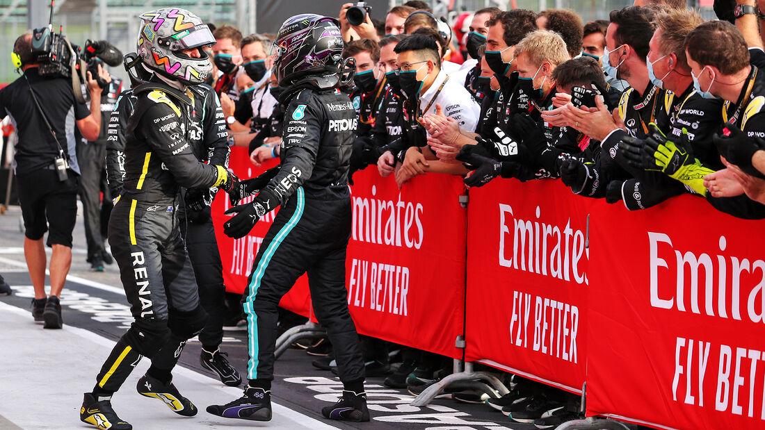 Ricciardo - Hamilton - GP Emilia-Romagna 2020 - Imola - Rennen