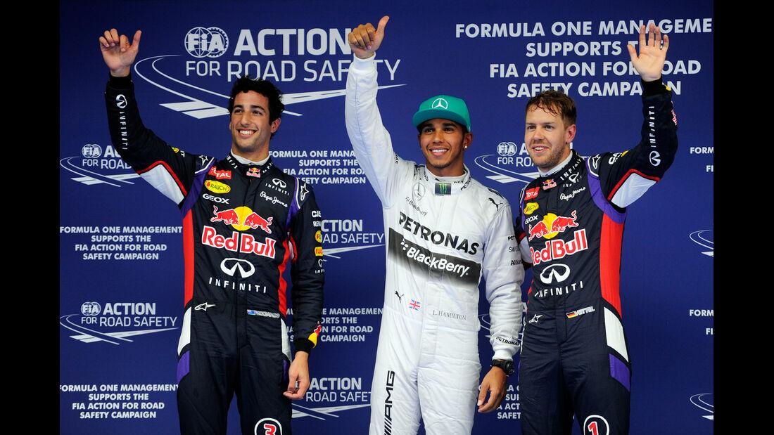 Ricciardo, Hamilton & Vettel - Formel 1 - GP China - Shanghai - 19. April 2014