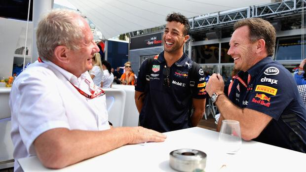Ricciardo, Horner & Marko - GP Monaco 2018