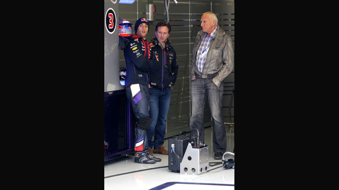 Ricciardo, Horner & Mateschitz - Red Bull - Formel 1 - Jerez - Test - 30. Januar