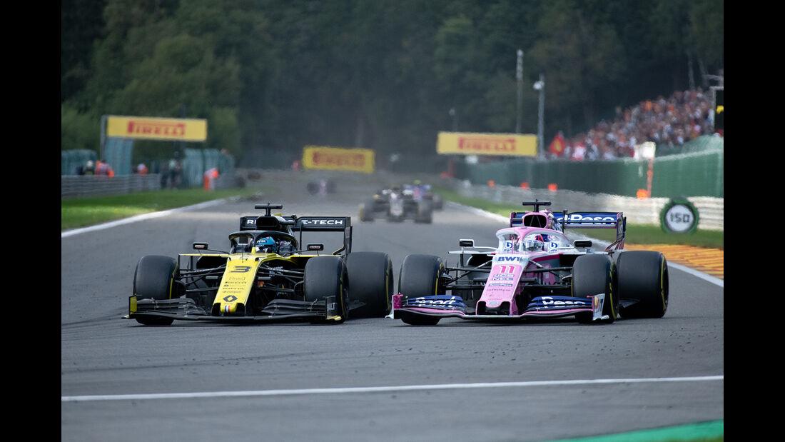 Ricciardo - Perez - GP Belgien 2019 - Spa-Francorchamps