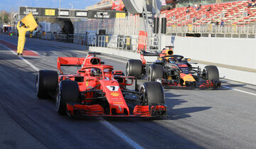 Ricciardo & Räikkönen - Red Bull & Ferrari - F1-Test - Barcelona - Tag 6 - 7. März 2018