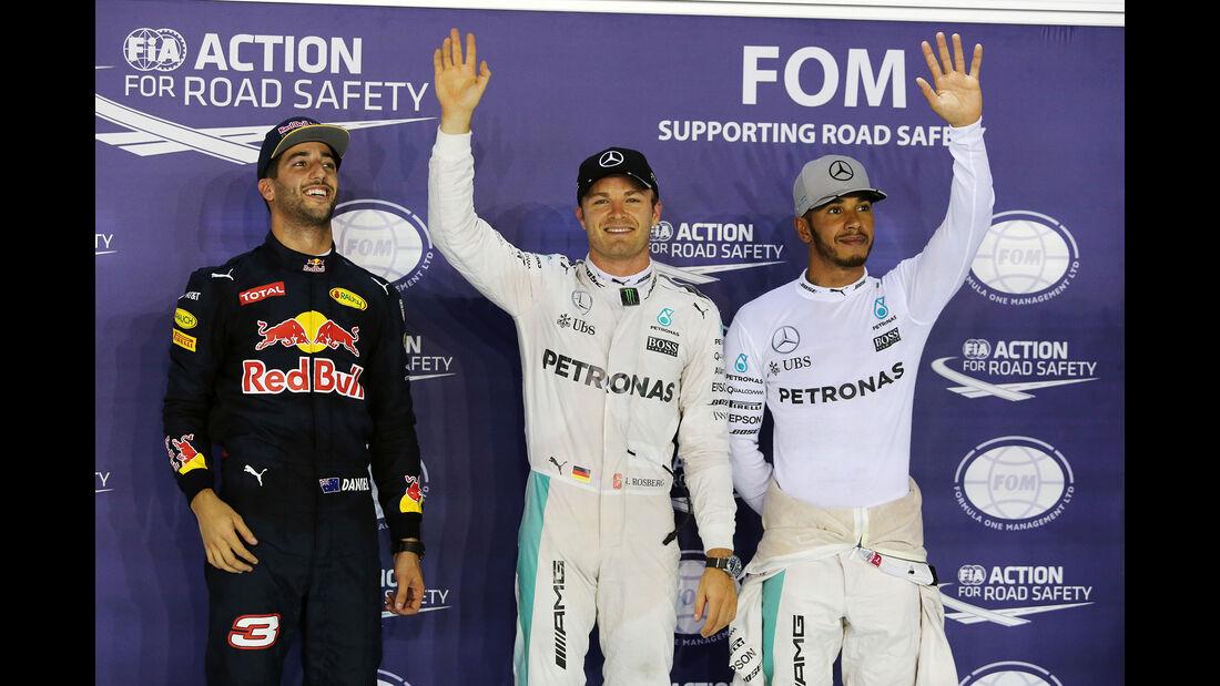 Ricciardo, Rosberg & Hamilton - Formel 1 - GP Singapur - 17. September 2016