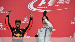 Ricciardo - Stroll - GP Aserbaidschan 2017 - Baku - Rennen