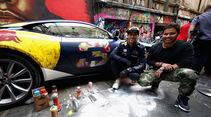 Ricciardo & Verstappen - Red Bull - Graffiti - Aston Martin - GP Australien 2018