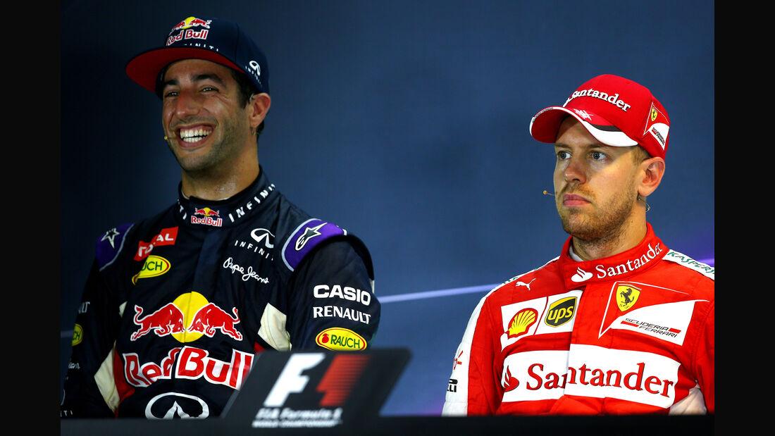 Ricciardo & Vettel - Formel 1 - GP Singapur - 20. September 2015