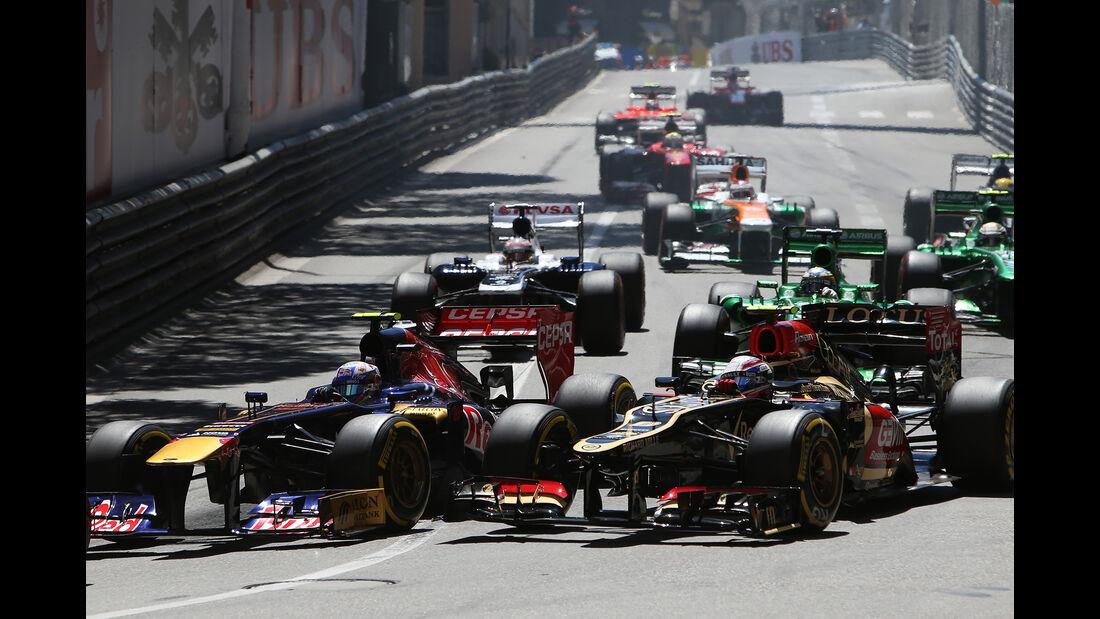 Ricciardo vs. Grosjean - GP Monaco 2013