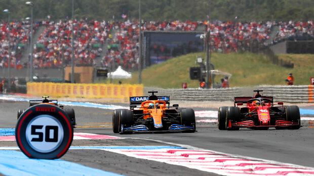 Ricciardo vs. Leclerc - McLaren & Ferrari - Formel 1 - GP Frankreich 2021