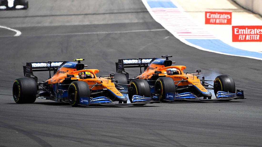 Ricciardo vs. Norris - McLaren - Formel 1 - GP Frankreich 2021