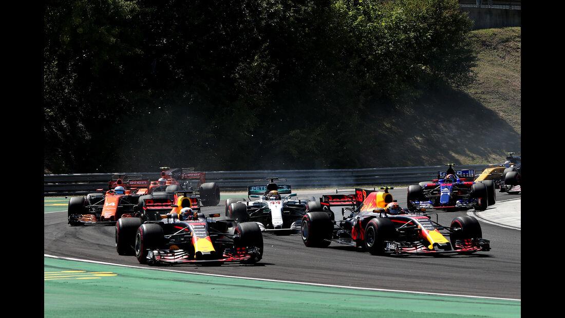 Ricciardo vs. Verstappen - GP Ungarn 2017