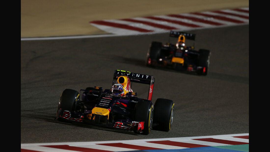 Ricciardo vs. Vettel - Formel 1 - GP Bahrain 2014