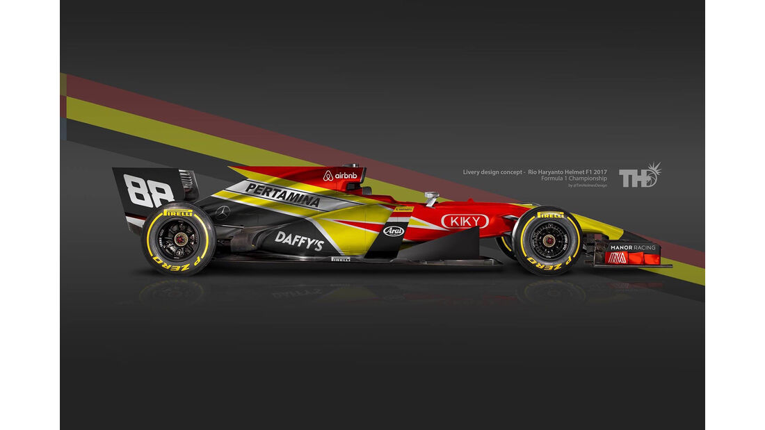 Rio Haryanto - F1-Autos mit Helm-Lackierung - 2016