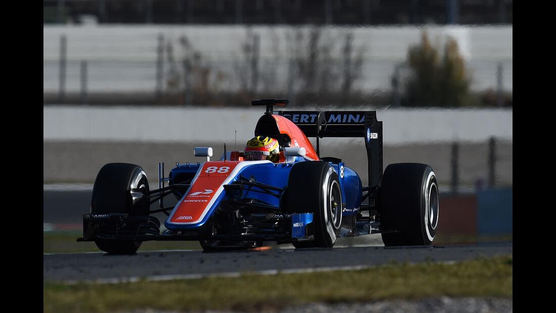 Rio Haryanto - Manor - Barcelona - Formel 1-Test - 1. März 2016