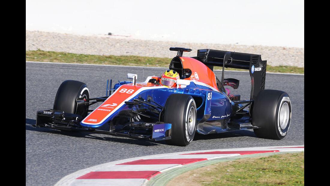 Rio Haryanto - Manor - Barcelona - Formel 1-Test - 1. März - 2016