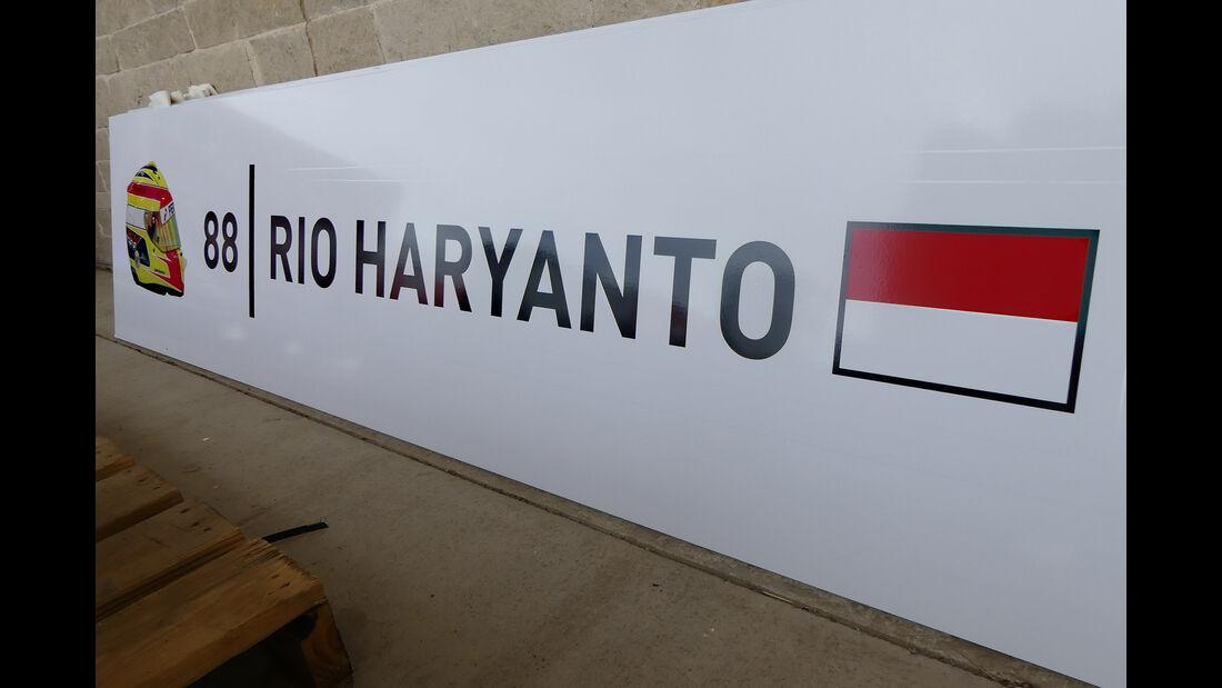 Rio Haryanto - Manor - Formel 1 - GP USA - Austin - 19. Oktober 2016