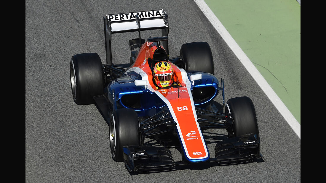 Rio Haryanto - Manor - Formel 1-Test - Barcelona - 24. Februar 2016