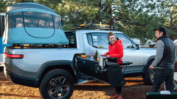 Rivian R1T Camping Küche