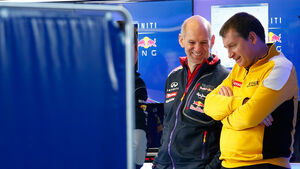 Rob White - Adrian Newey - Formel 1 - Test - 2014