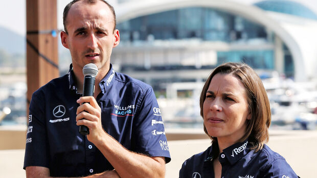 Robert Kubica & Claire Williams - GP Abu Dhabi 2018