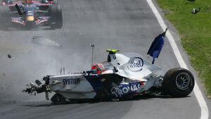 Robert Kubica Crash GP Kanada 2007