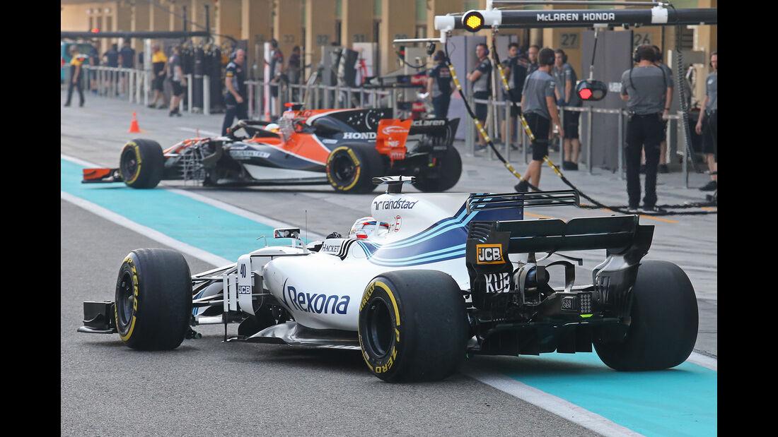 Robert Kubica - Williams - Abu Dhabi - Test 1 - 28. November 2017