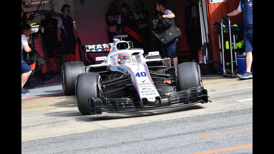 Robert Kubica - Williams - F1-Test - GP Spanien - Barcelona - Tag 2 - 16. Mai 2018