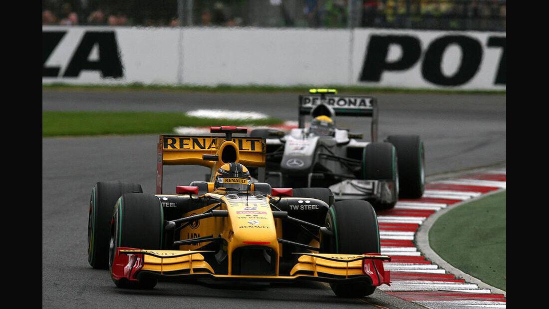 Robert Kubica und Nico Rosberg