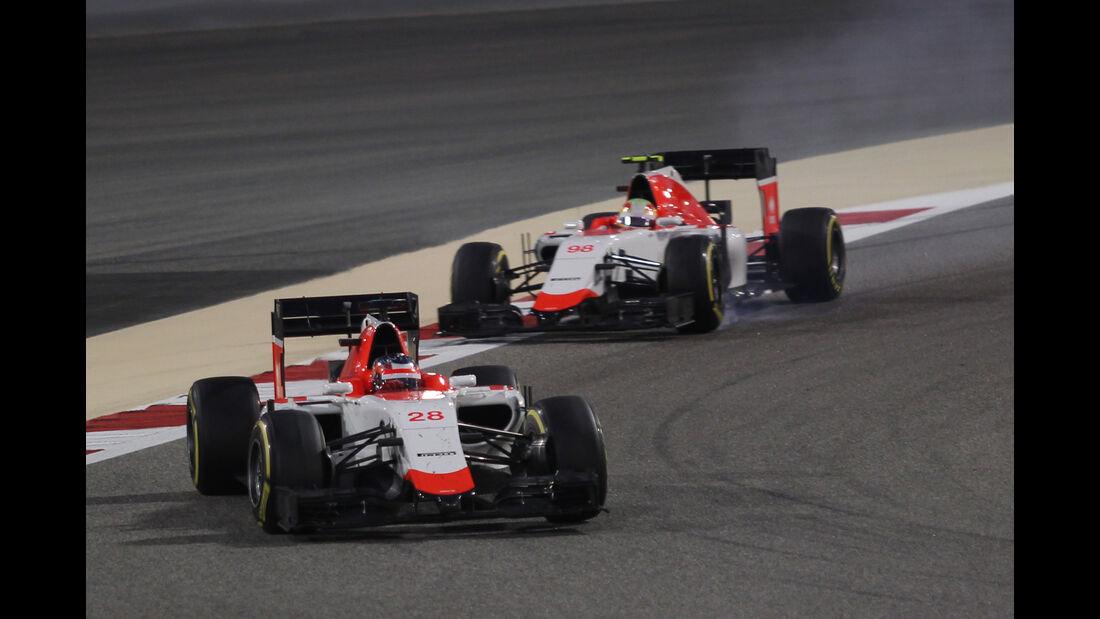 Roberto Merhi & Will Stevens - Manor Marussia - Formel 1 - GP Bahrain 2015
