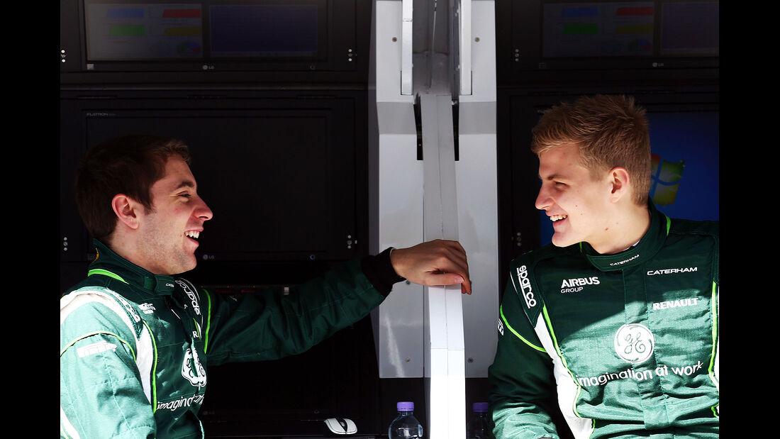 Robin Frijns - Marcus Ericsson - Caterham - Formel 1 - Bahrain - Test - 20. Februar 2014