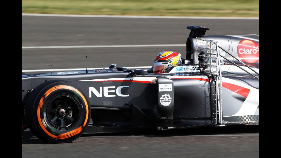 Robin Frijns - Sauber - Young Driver Test - Silverstone - 17. Juli 2013