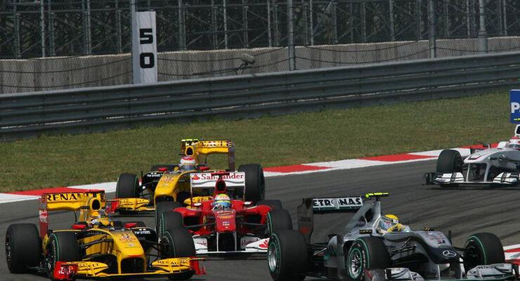 Robrt Kubica Nico Rosberg Felipe Massa