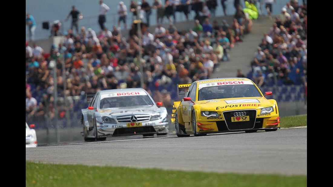 Rockenfeller, Audi A4 DTM, Green, Mercedes C-Klasse DTM, DTM, Spielberg, 2011