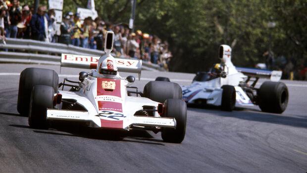 Rolf Stommelen - Brabham-Ford BT44B - GP Spanien 1975 - Montjuich Park