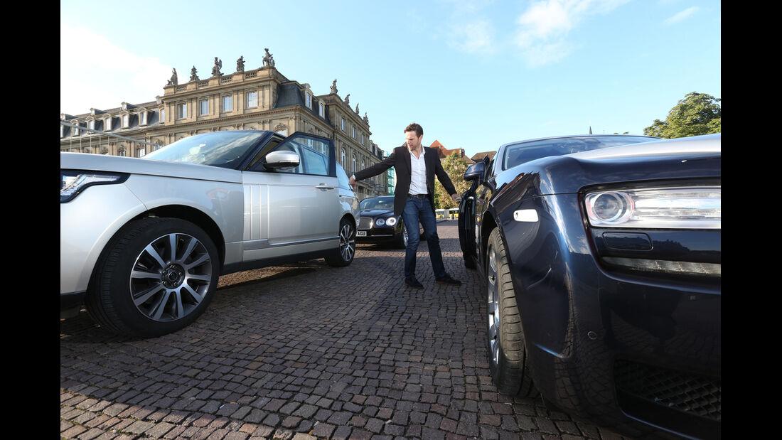 Rolls-Royce Ghost, Bentley Flying Spur, Range Rover 5.0 V8 SC, Alexander Bloch