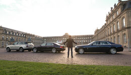 Rolls-Royce Ghost, Bentley Flying Spur, Range Rover 5.0 V8 SC, Seitenansicht