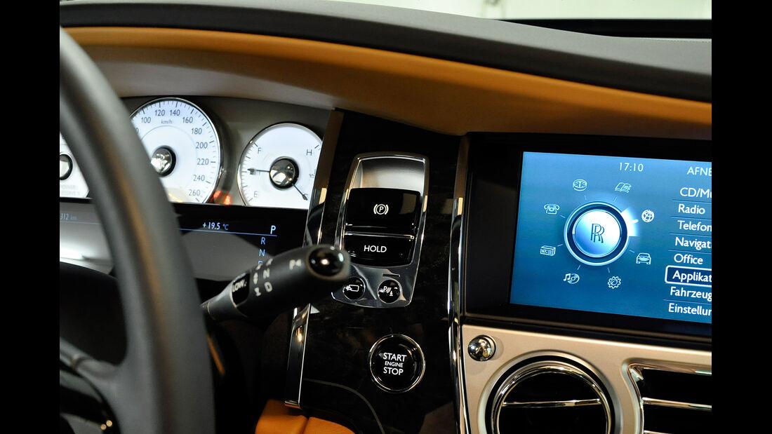 Rolls Royce Ghost, Cockpit, Feststellbremse