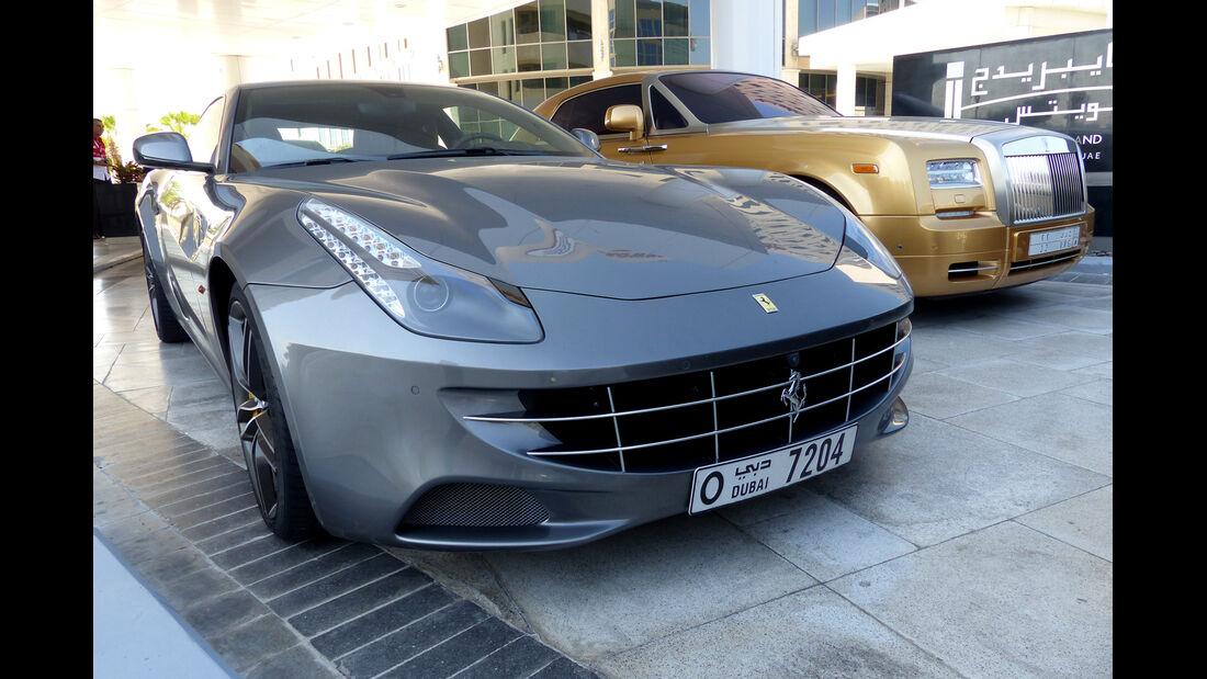Rolls Royce Ghost & Ferrari FF - F1 Abu Dhabi 2014 - Carspotting