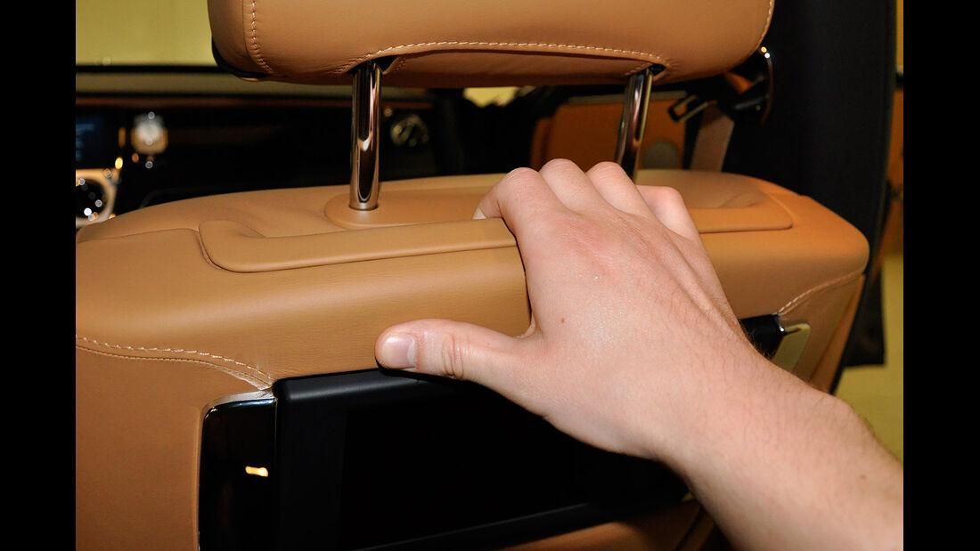 Rolls Royce Ghost, Fond, Rückbank