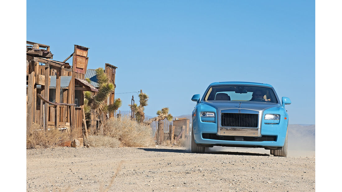 Rolls-Royce Ghost, Frontansicht, Gold Point