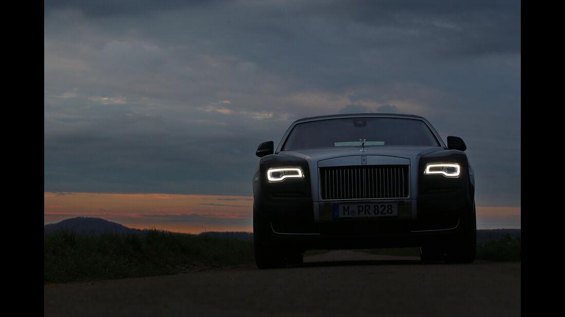 Rolls-Royce Ghost, Frontansicht, Licht