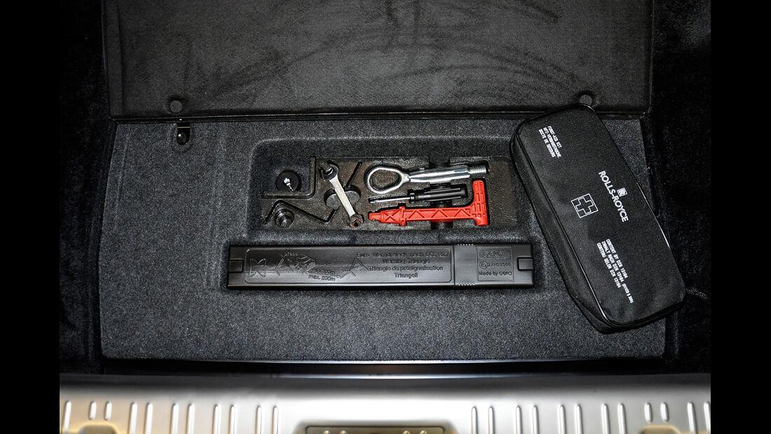 Rolls Royce Ghost, Kofferraum, Werkzeug