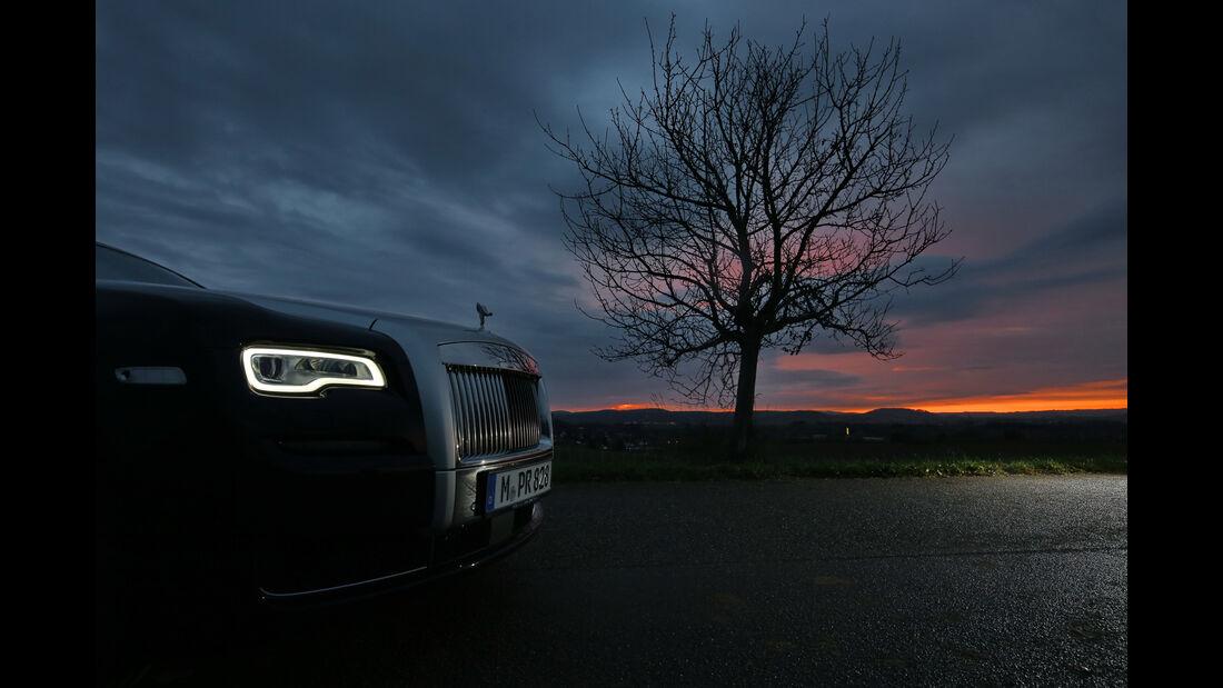 Rolls-Royce Ghost, Seitenansicht, Licht
