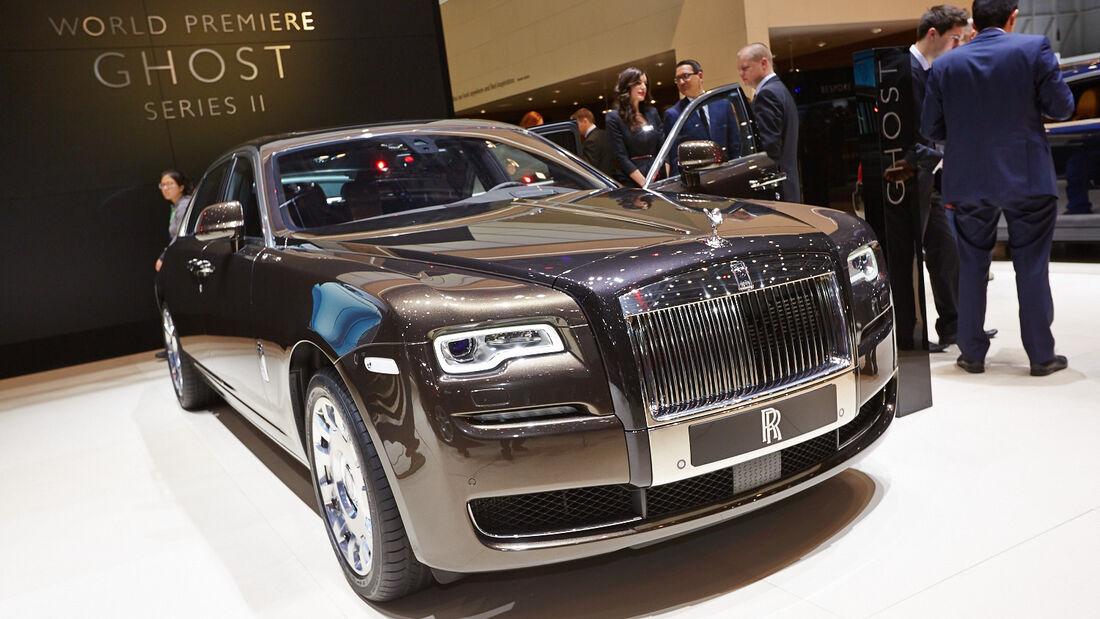 Rolls-Royce Ghost Series 2, Genfer Autosalon, Messe, 2014