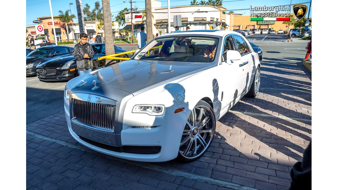 Rolls Royce Ghost - Supercar Show - Lamborghini Newport Beach
