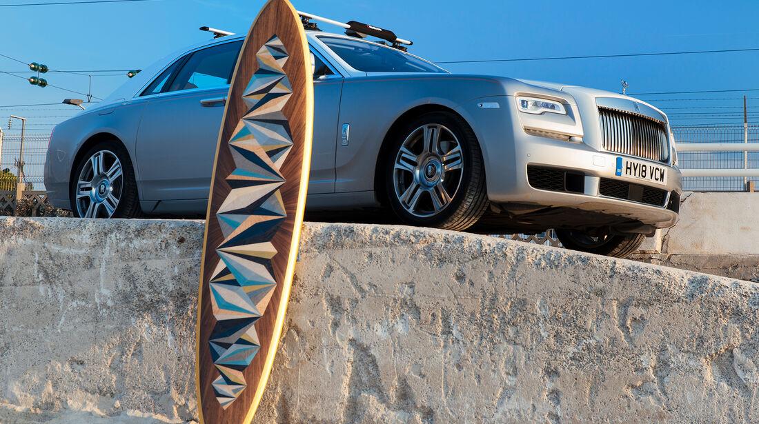 Rolls-Royce Ghost Woodpop Surfboard