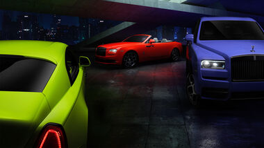 Rolls-Royce Neon Nights Wraith Dawn Cullinan