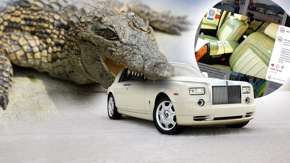 Rolls-Royce Phantom Krokodil Leder illegal konfisziert Italien
